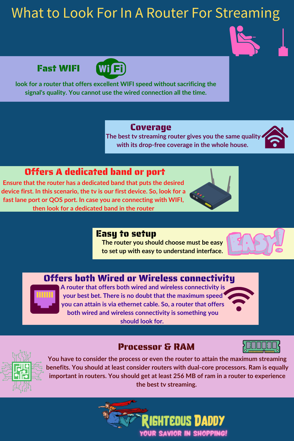 what to look for in a router infographic buying guide