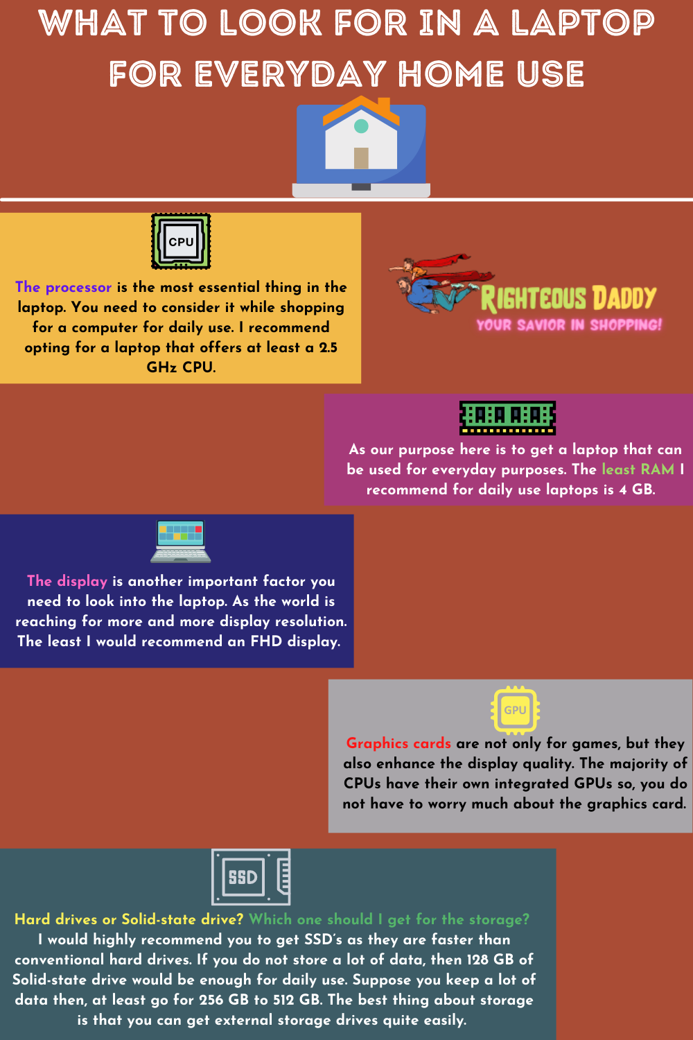 laptop for daily use infographic